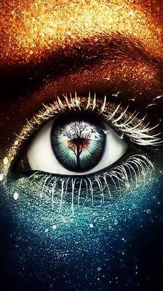 Обои на телефон глаза, цветные, красочные, золотые