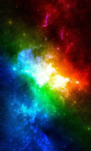 Обои на телефон туманность, радуга, красочные, космос, галактика, galaxy