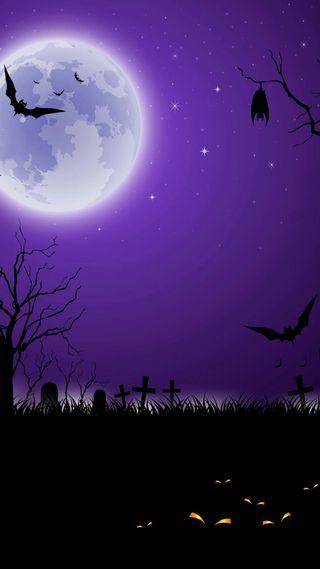 Обои на телефон летать, хэллоуин, страшные, призрак, праздник, ночь, луна, летучая мышь, крест, дерево, глаза, scary halloween, ghost, cemetery