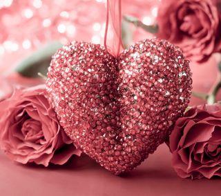 Обои на телефон цветы, фон, символ, сердце, романтика, розы, любовь, symbol of love, love