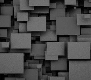 Обои на телефон квадраты, шаблон, черные, абстрактные, 3д, 3d