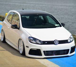 Обои на телефон гольф, фольксваген, тюнинг, машины, белые, автомобили, авто, vw, volkswagen, mk6, golf r