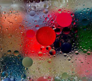 Обои на телефон мокрые, цветные, стекло, пузыри, красые, капли, жидкость, вода, oil bubbles, air