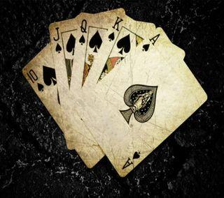 Обои на телефон туз, карты, приятные, покер, крутые, король, королева, джокер, royal flush