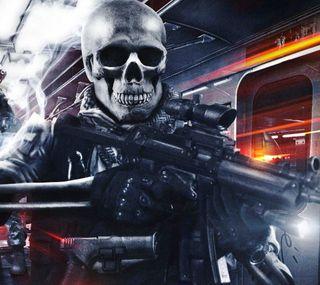 Обои на телефон череп, смерть, оружие, игра, видео, армия, battlefield