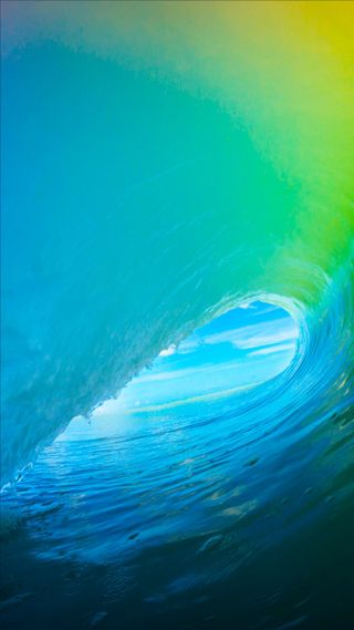 Обои на телефон серфить, зеленые, волна, вода, ios 9, ios 8, ios