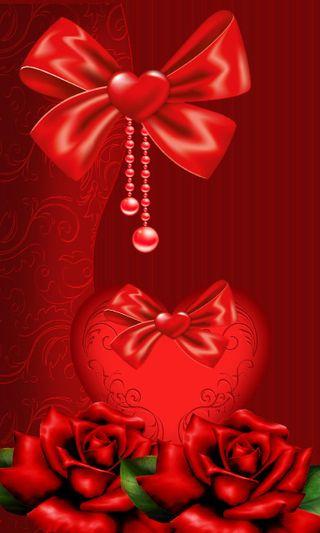 Обои на телефон лук, сердце, романтика, любовь, красые, валентинка, love valentine, love, bow valentine