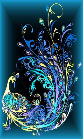 Обои на телефон птицы, фон, красочные, абстрактные, colorful bird
