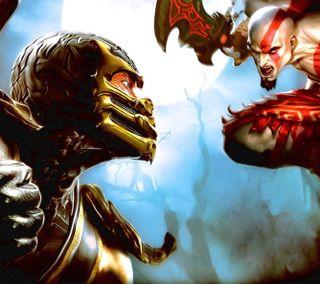Обои на телефон скорпион, сони, кратос, война, бог, warner, sony, scorpion x kratos hd, netherhelm, mk ix, god of war