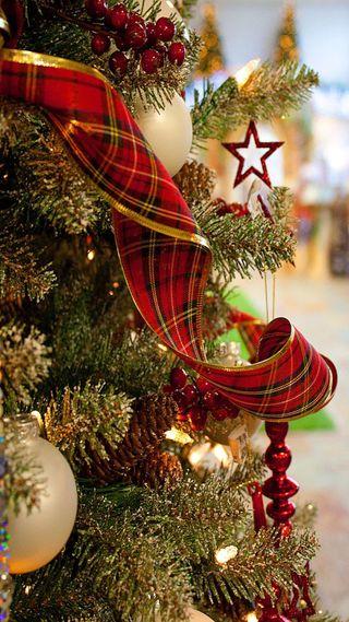 Обои на телефон дерево, рождество