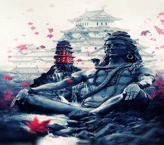 Обои на телефон японские, религия, осень, бог, haiku