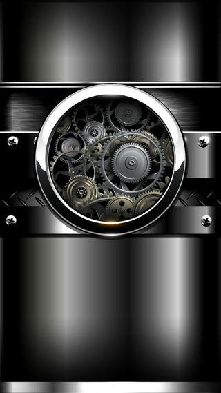 Обои на телефон механизм, часы, серебряные