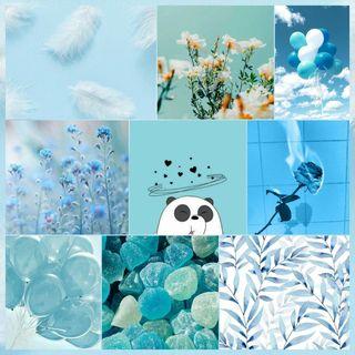 Обои на телефон эстетические, панда, tumblr, fotos azul aesthetic