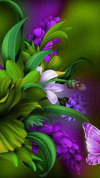 Обои на телефон цветы, цветочные, рисунки, природа, дизайн, 3д, 3d