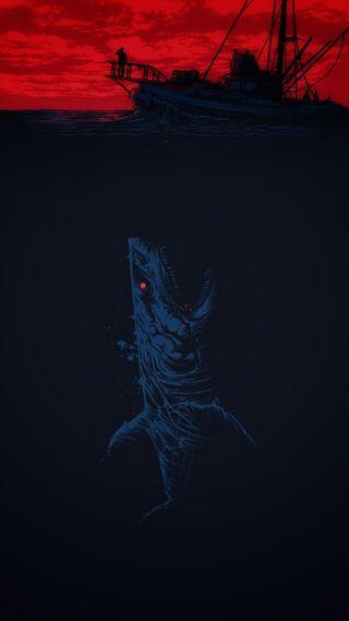Обои на телефон акула, темные, правило, опасные, море, король, королевство, own, megalodon, king of sea