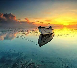 Обои на телефон река, лодки