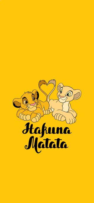 Обои на телефон оранжевые, любовь, лев, король, simba the lion king, simba, love, hakuna matata