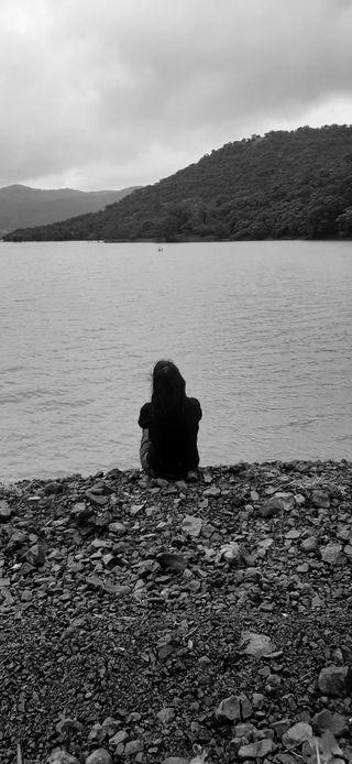 Обои на телефон природа, одиночество, одинокий, огорчение, девушки, грустные, upset girl, sad and lonely girl, lonely girl