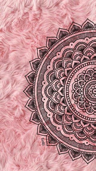 Обои на телефон мандала, симпатичные, розовые, милые, мех, дизайн