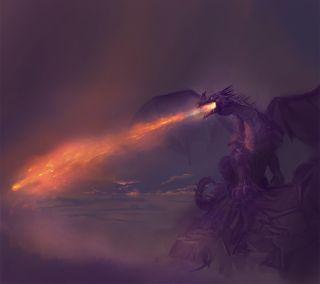 Обои на телефон дрейк, фантазия, пламя, огонь, змея, змеевидный, зло, дракон, dragon