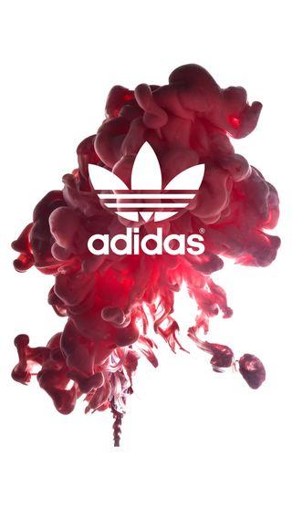 Обои на телефон спортивные, спорт, розовые, логотипы, красые, дым, адидас, adidas