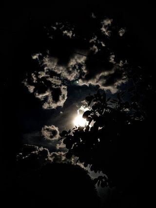 Обои на телефон тьма, ночь, луна, oscuro, nebulous, luna llena