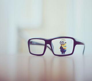Обои на телефон очки, миньоны, игрушка