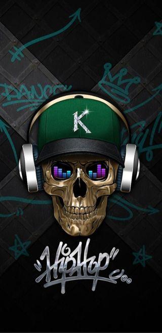 Обои на телефон граффити, череп, хип хоп, музыка, король, hiphop skull