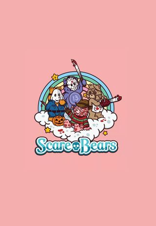 Обои на телефон забота, хэллоуин, фредди, ужасы, милые, медведи, scare bears, freddy krueger, care bears
