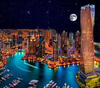 Обои на телефон дубай, цветные, саудовская, пейзаж, красочные, здания, город, arabia
