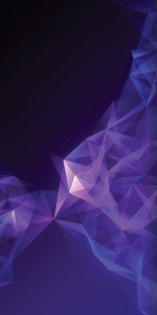 Обои на телефон многоугольник, фон, фиолетовые, самсунг, галактика, андроид, абстрактные, samsung, s9, render, galaxy, android