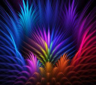 Обои на телефон перья, цветные, артистические, абстрактные, artistic colors