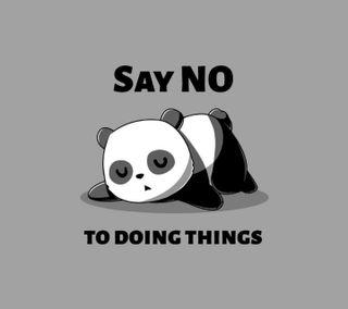 Обои на телефон устал, сказать, панда, высказывания, say no