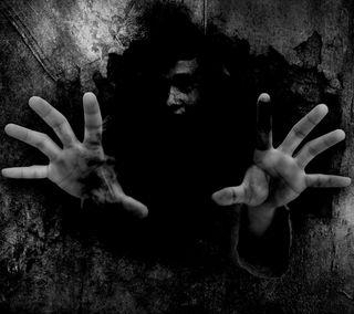 Обои на телефон руки, черные, фон, ужасы, темные, страшные, ночь, лицо
