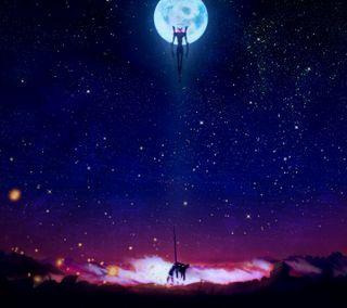 Обои на телефон эпичные, небо, звезды, евангелион, аниме, ngevangelion