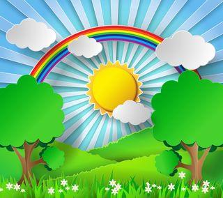 Обои на телефон современные, фон, солнце, солнечный свет, солнечные, радуга, новый, день, векторные, абстрактные, sunny day