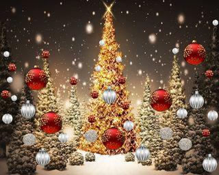 Обои на телефон банда, тема, рождество, дерево, christmas tree gang