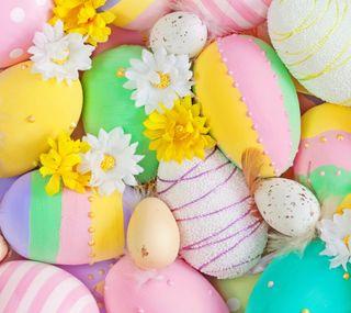 Обои на телефон празднование, яйца, цветы, христианские, счастливые, праздник, пасхальные, happy, easter eggs