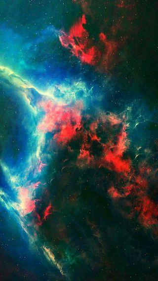 Обои на телефон аврора, небо, красочные, галактика, galaxy
