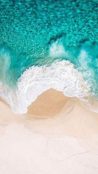 Обои на телефон природа, пляж, песок, небо, лето, зеленые, вода, ios11, ios 11, green water