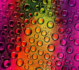 Обои на телефон пузыри, стекло, красочные, капли, вода