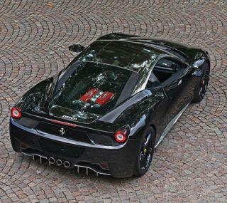 Обои на телефон черные, феррари, скорость, машины, колеса, двигатель, ferrari, fast
