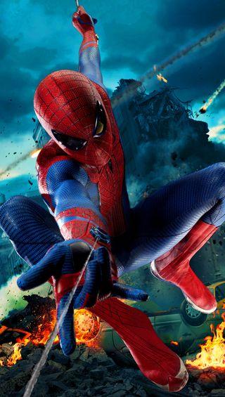 Обои на телефон удивительные, человек паук, фильмы, персонажи, новый, машины, город