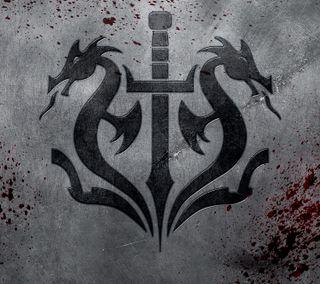 Обои на телефон эмблемы, черные, рептилия, меч, кровь, змея, змеевидный, дракон, dragon, black dragon emblem