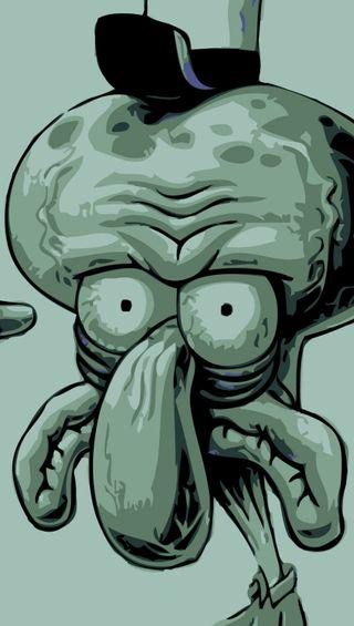 Обои на телефон губка боб, squidward