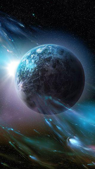 Обои на телефон солнечный, планета