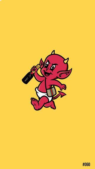 Обои на телефон красые, желтые, дьявол, диабло, демоны, демон, гуччи, gucci, devil wears gucci, demonio, bonagfx, bona