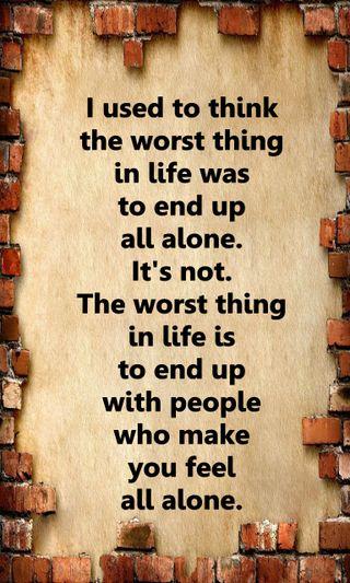 Обои на телефон чувствовать, чувства, поговорка, одиночество, новый, жизнь, грустные, worst, feel alone