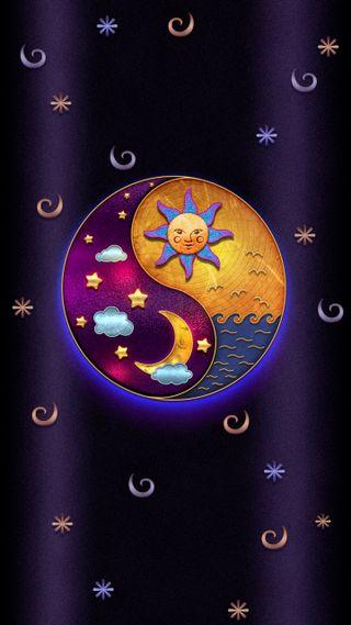 Обои на телефон темы, тема, солнце, сердце, привет, милые, маус, луна, кошки, sun and moon, hello, fat