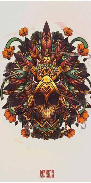 Обои на телефон мексика, череп, guerrero, craneo, aztecas, azteca, aguila